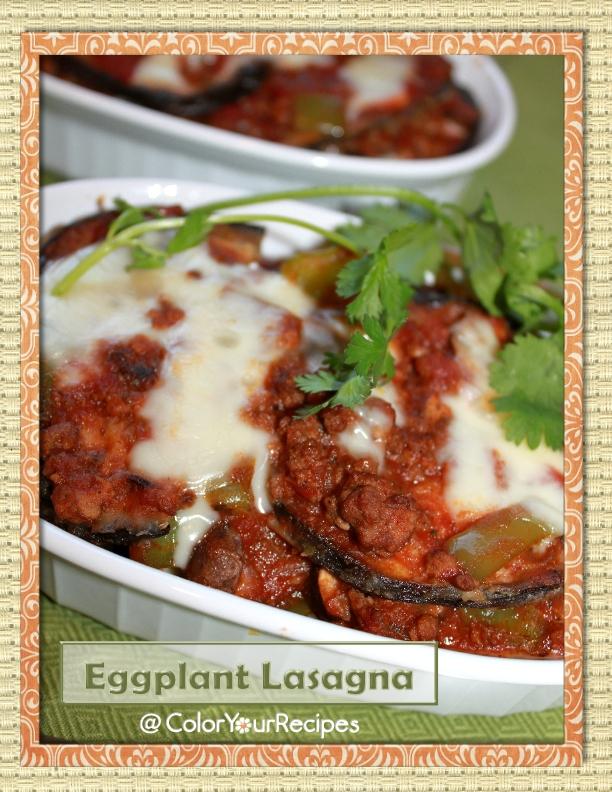 Eggplant Lasagna (1) ~ Simple Recipes @ Color Your Recipes