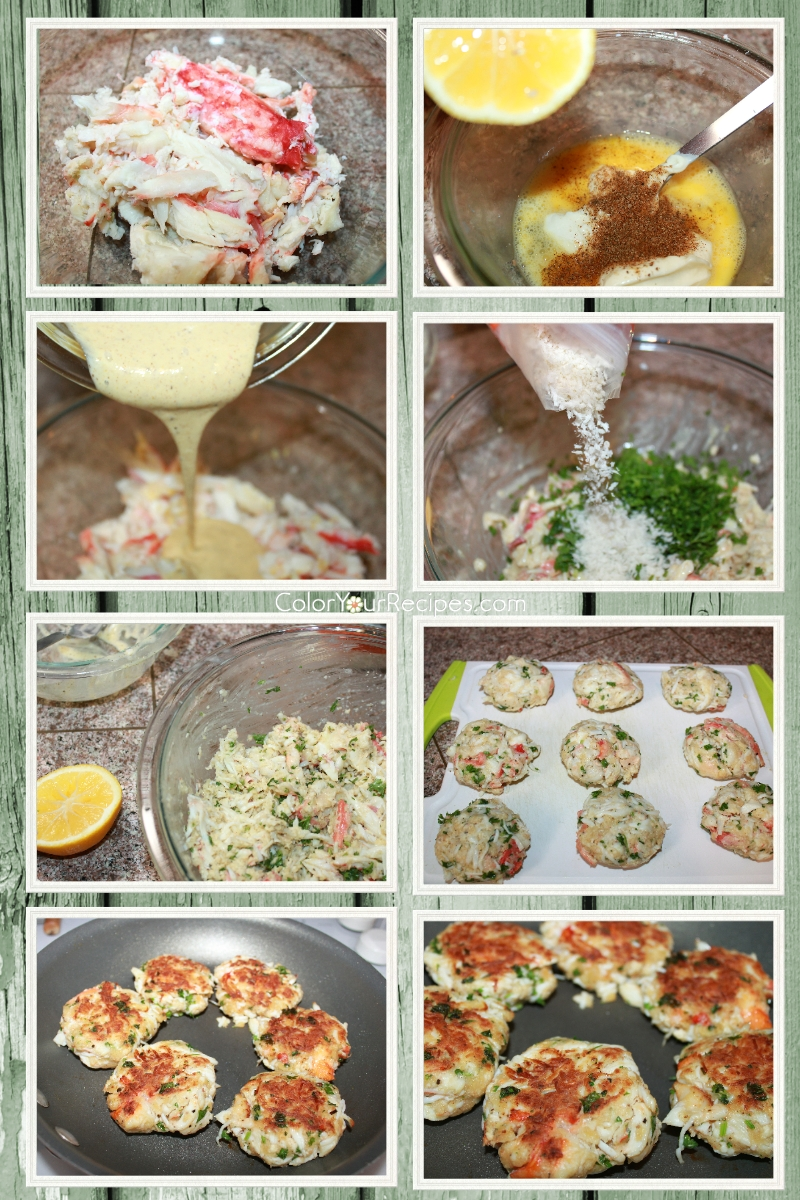 Simple Chunky Crab Cake Recipe (2) ~ Color Your Recipes
