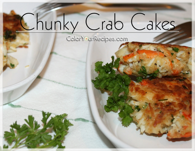 Simple Chunky Crab Cake Recipe (4) ~ Color Your Recipes