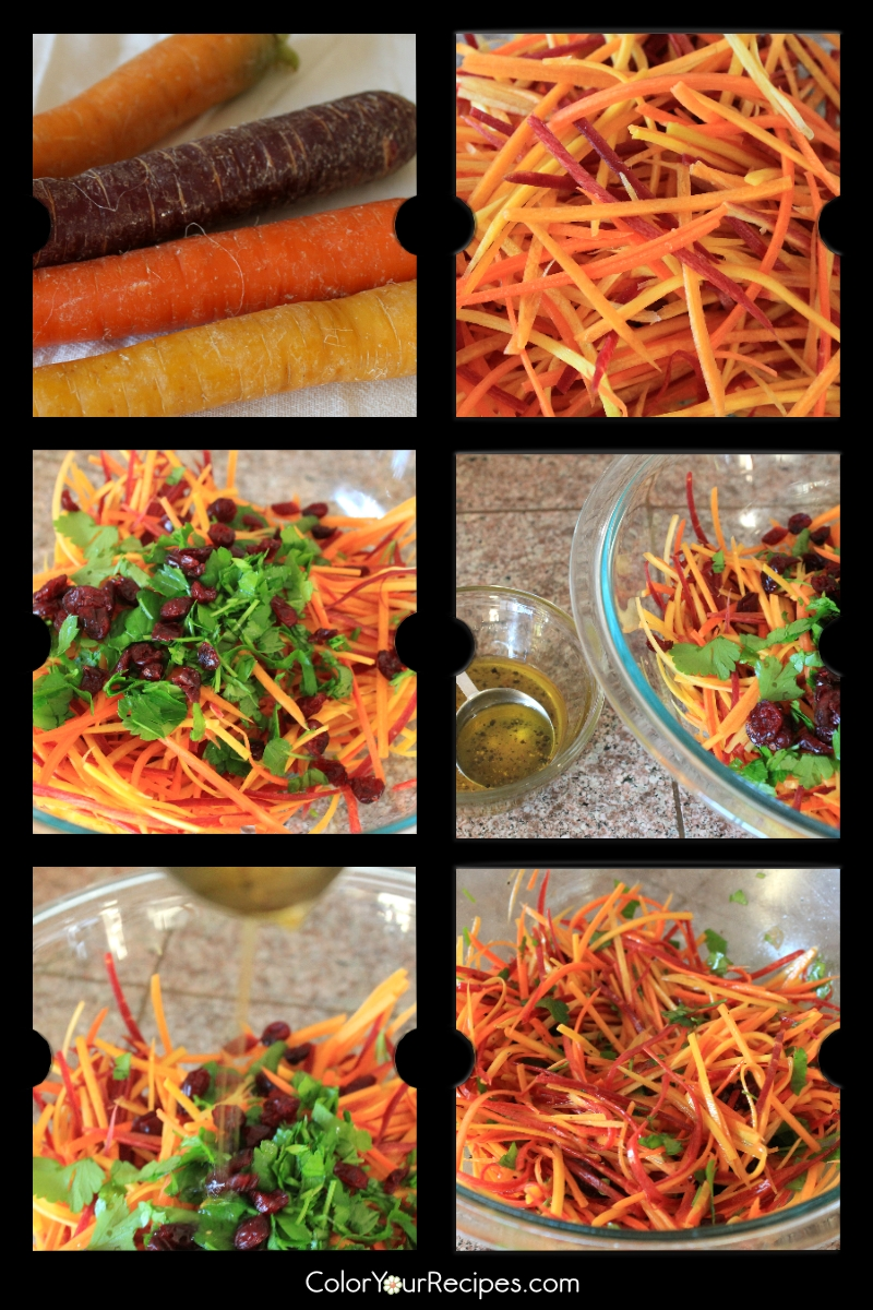 Simple Rainbow Carrot Slaw Recipe (2) ~ Color Your Recipes