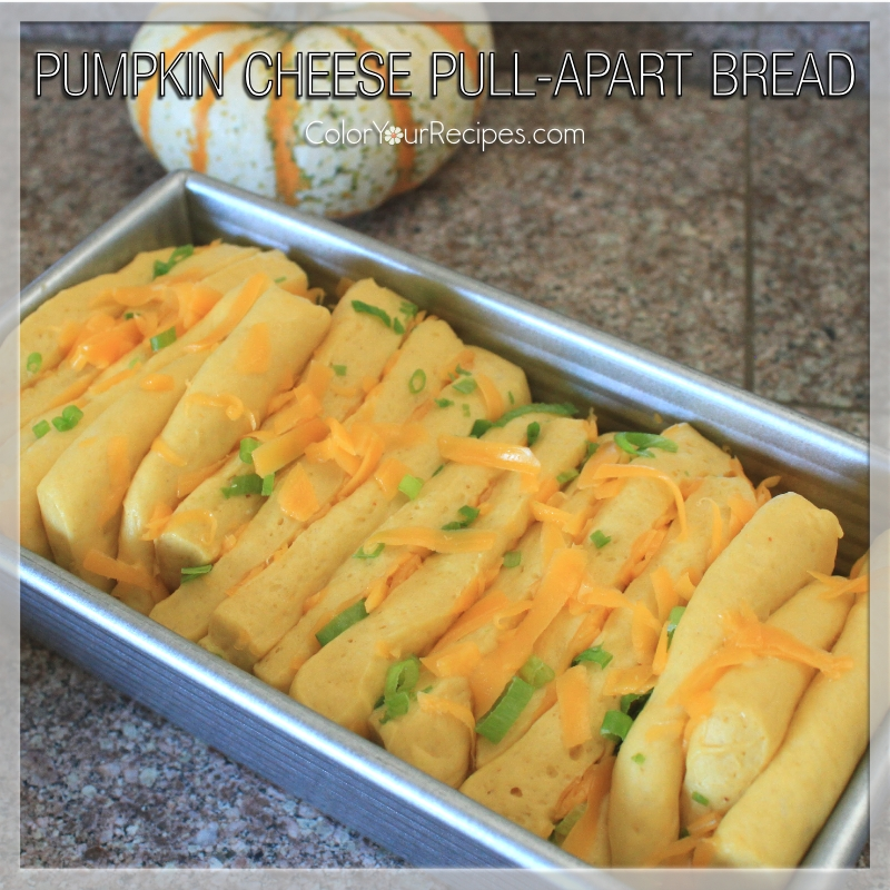 Simple Pumpkin Cheese Pull-Apart Bread Recipe (4) ~ Color Your Recipes