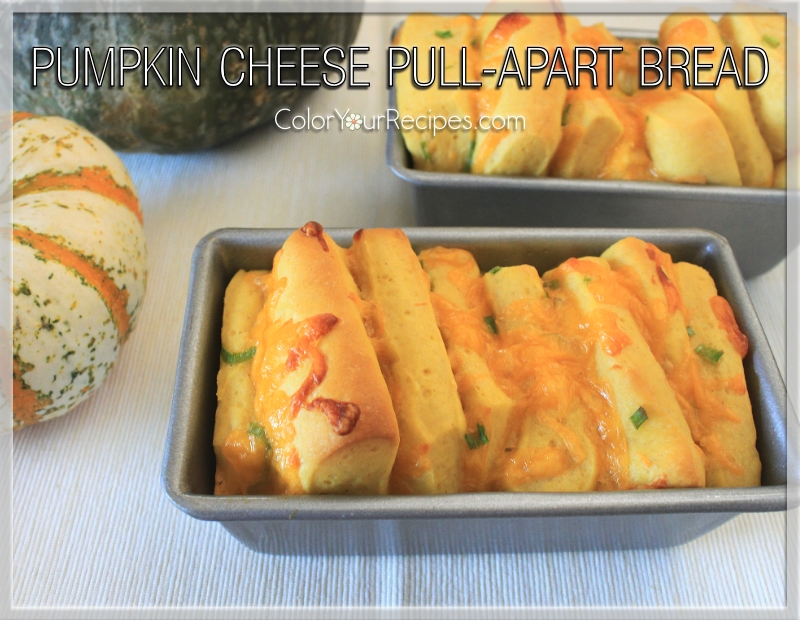 Simple Pumpkin Cheese Pull-Apart Bread Recipe (5) ~ Color Your Recipes