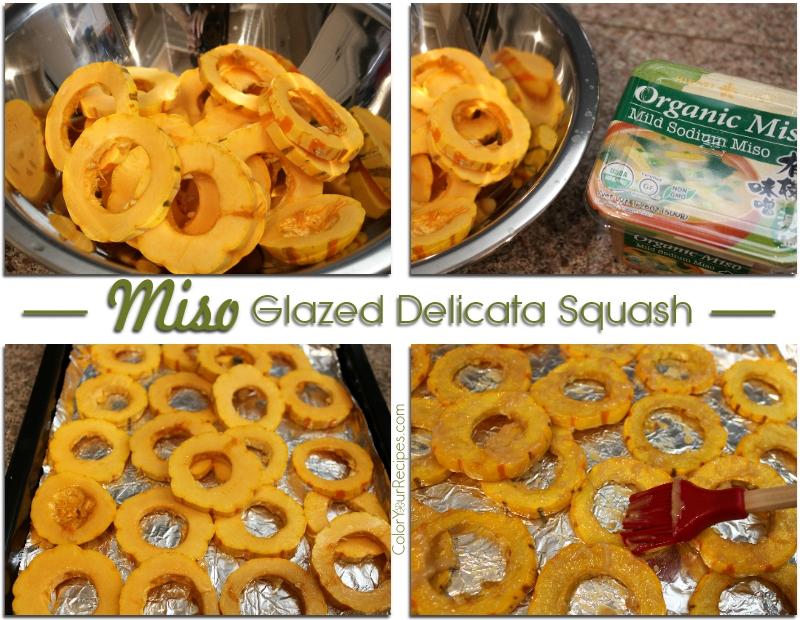 Simple Miso Glazed Delicata Squash Recipe (2) ~ Color Your Recipes