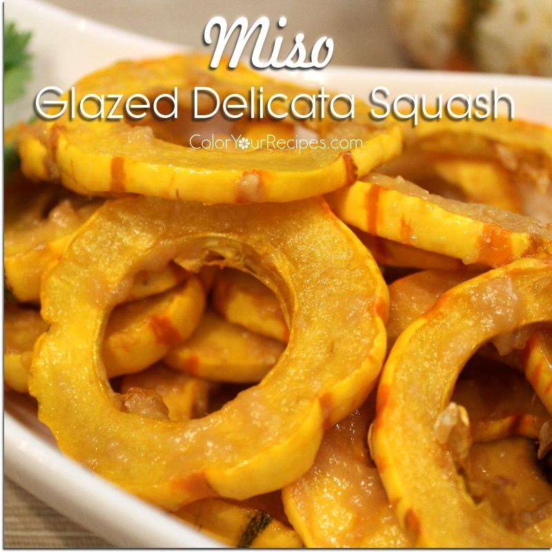 Simple Miso Glazed Delicata Squash Recipe (3) ~ Color Your Recipes