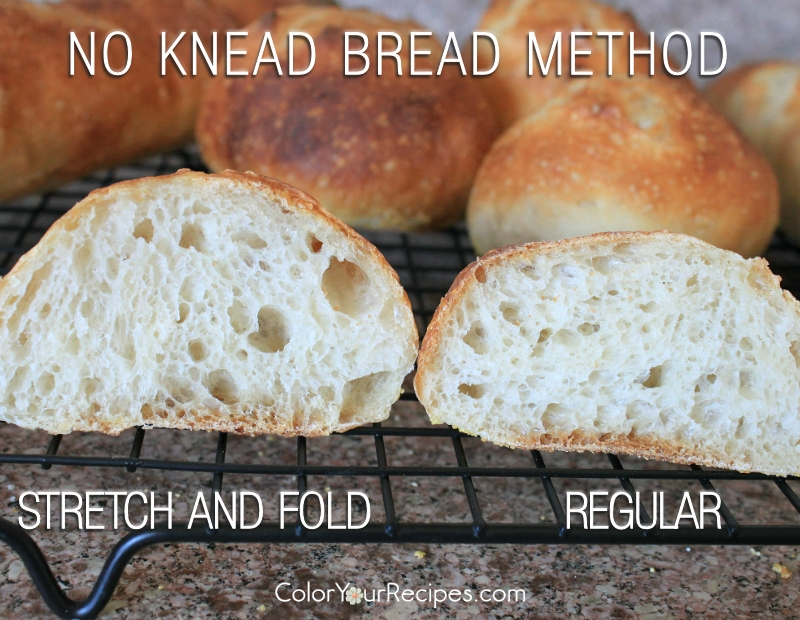 Simple No Knead Bread Method Recipe (5) ~ Color Your Recipes