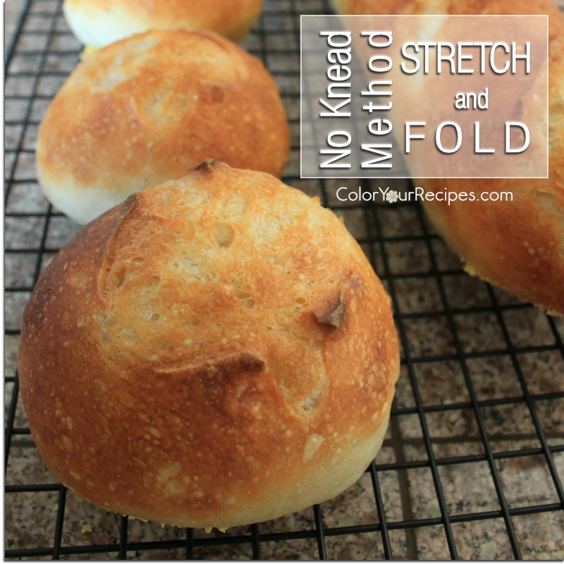 Simple No Knead Bread Method Recipe (6) ~ Color Your Recipes