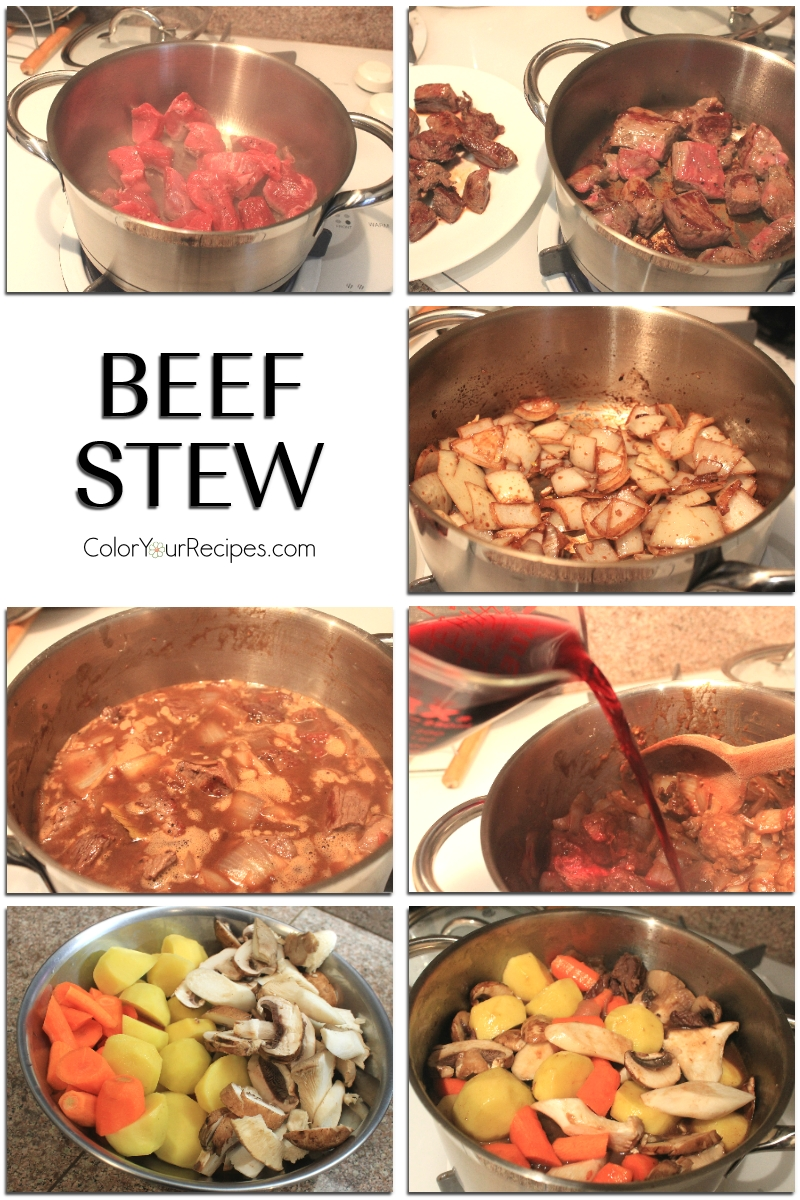 Simple Beef Stew Recipe (2) ~ Color Your Recipes