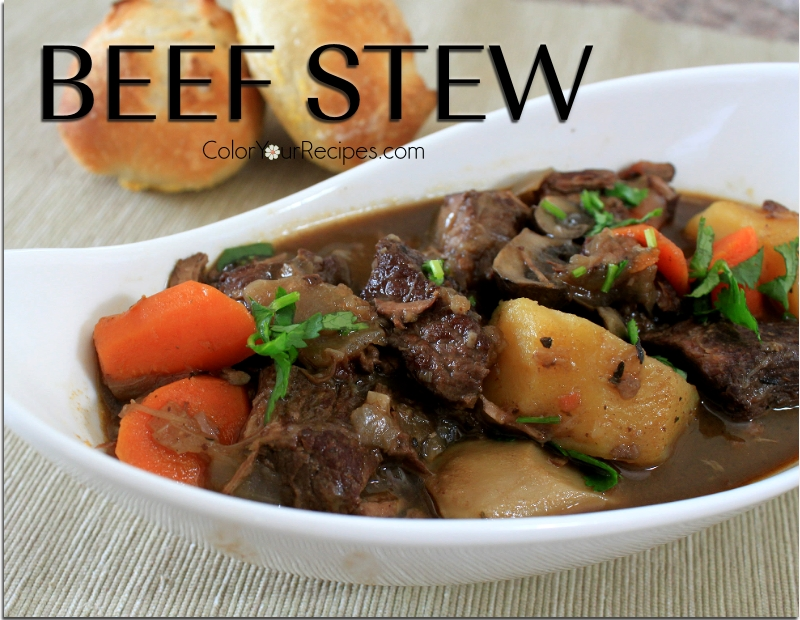 Simple Beef Stew Recipe (3) ~ Color Your Recipes