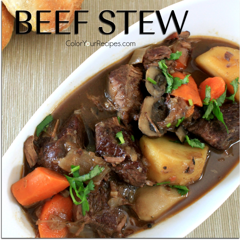 Simple Beef Stew Recipe (4) ~ Color Your Recipes