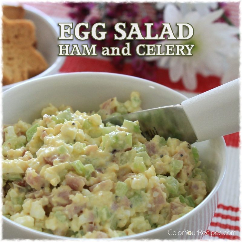 Simple Egg Salad with Ham Recipe (3) ~ Color Your Recipes