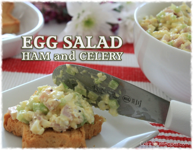 Simple Egg Salad with Ham Recipe (4) ~ Color Your Recipes