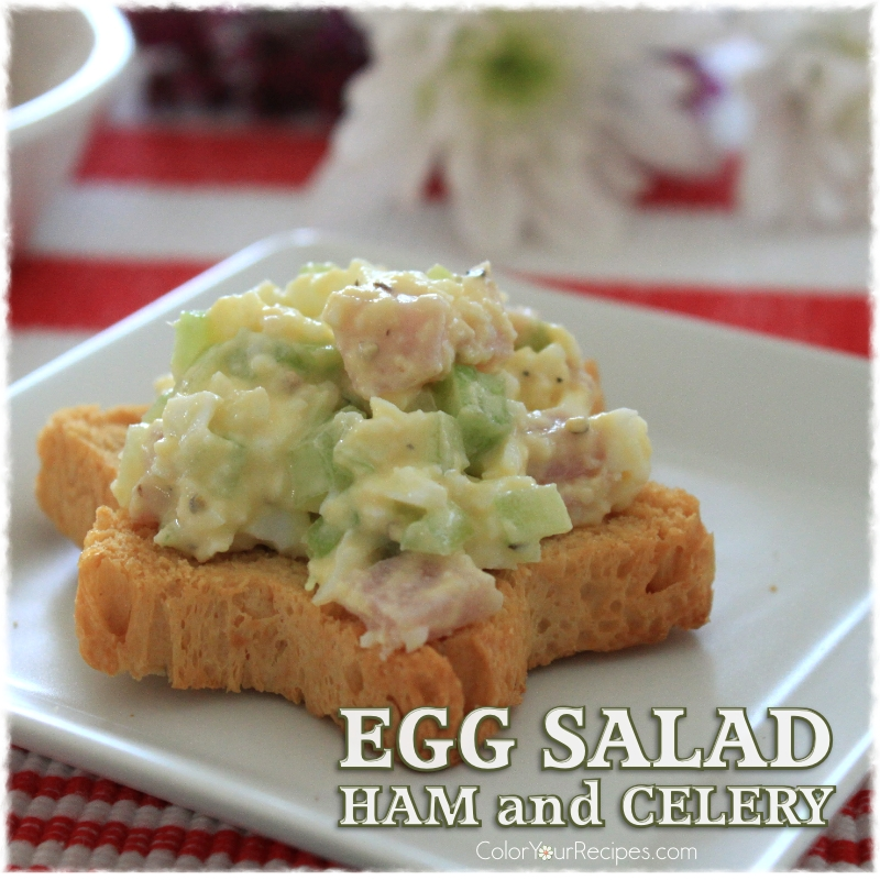 Simple Egg Salad with Ham Recipe (5) ~ Color Your Recipes