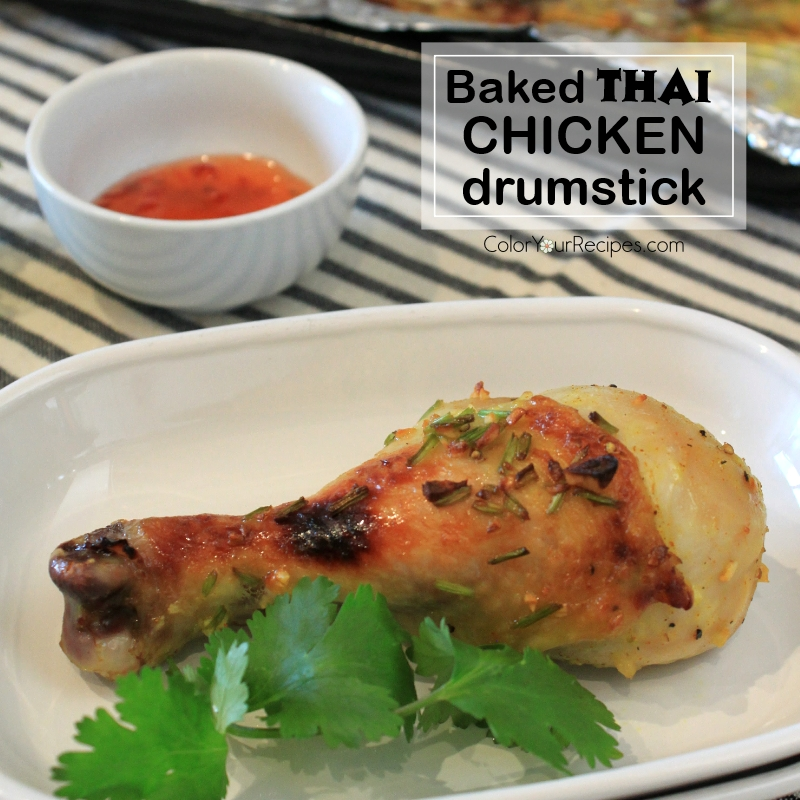 Simple Baked Thai Chicken Drumstick Recipe (3) ~ Color Your Recipes