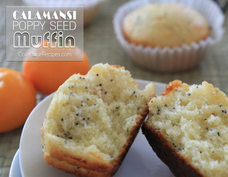 Simple Calamansi Poppy Seeds Muffin Recipe (6) ~ Color Your Recipes