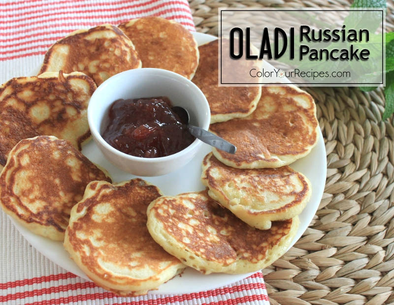 Simple Recipe for Oladi Russian Pancakes (3) ~ Color Your Recipes