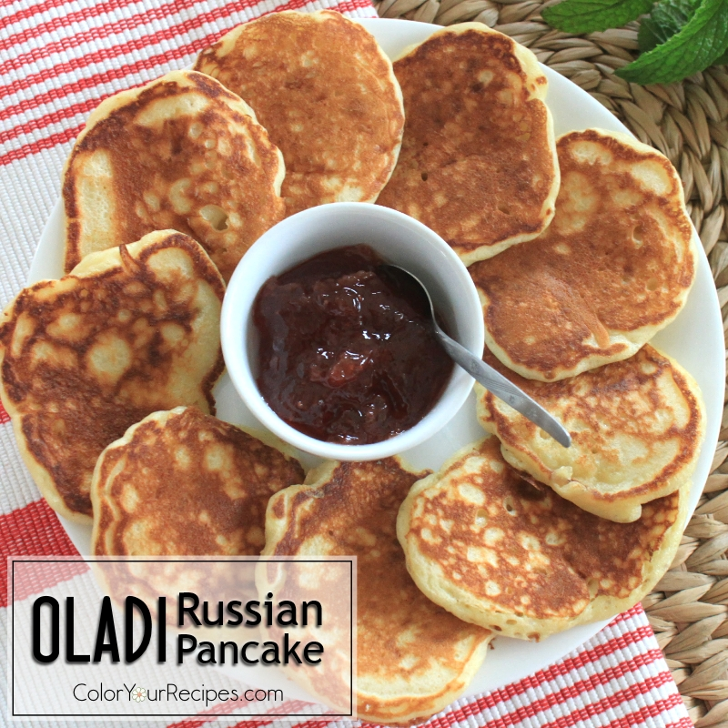Simple Recipe for Oladi Russian Pancakes (4) ~ Color Your Recipes