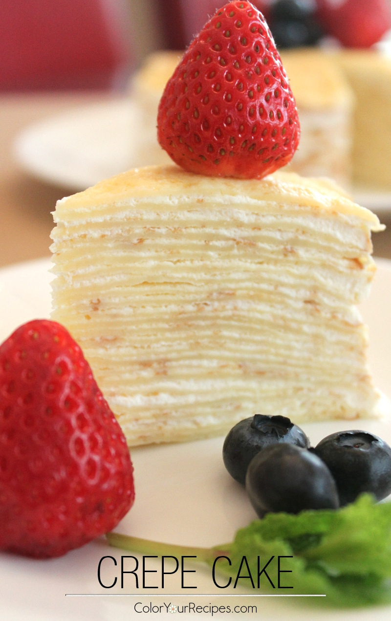 Crepe Cake Recipe (1) ~ Color Your Recipes