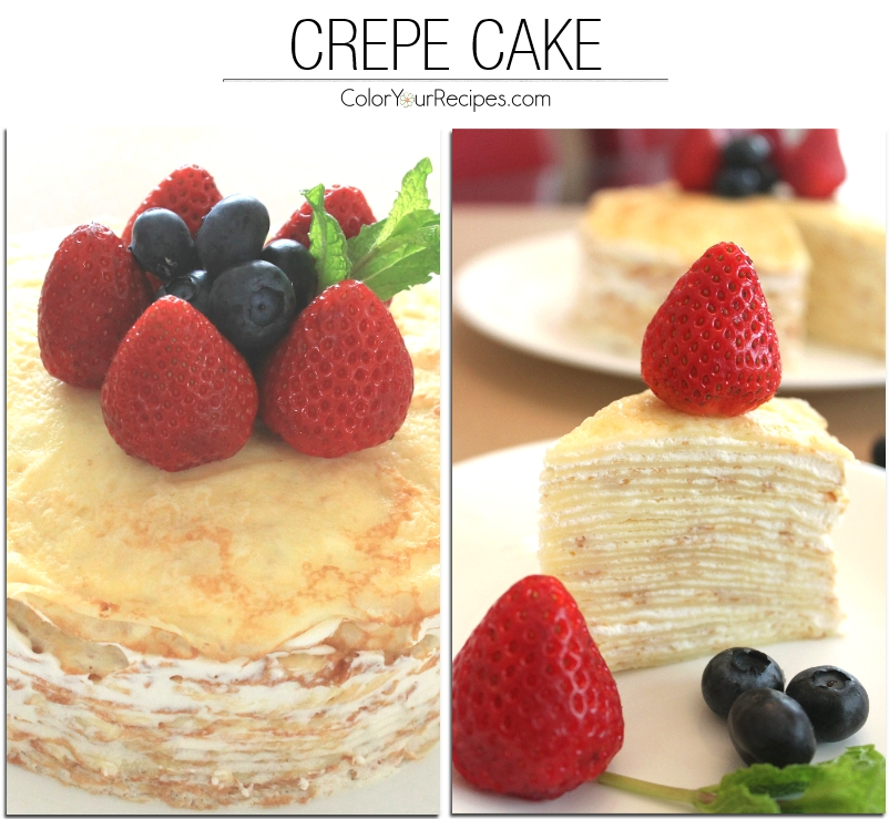 Crepe Cake Recipe (5) ~ Color Your Recipes