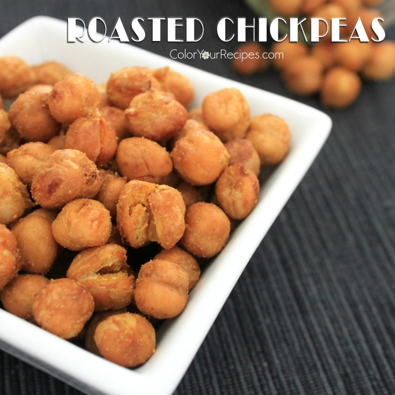Simple Roasted Chickpeas Recipe (4) ~ Color Your Recipes