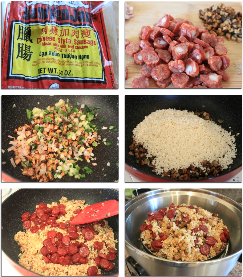 simple-glutinous-rice-with-chinese-sausage-recipe-2-color-your-recipes