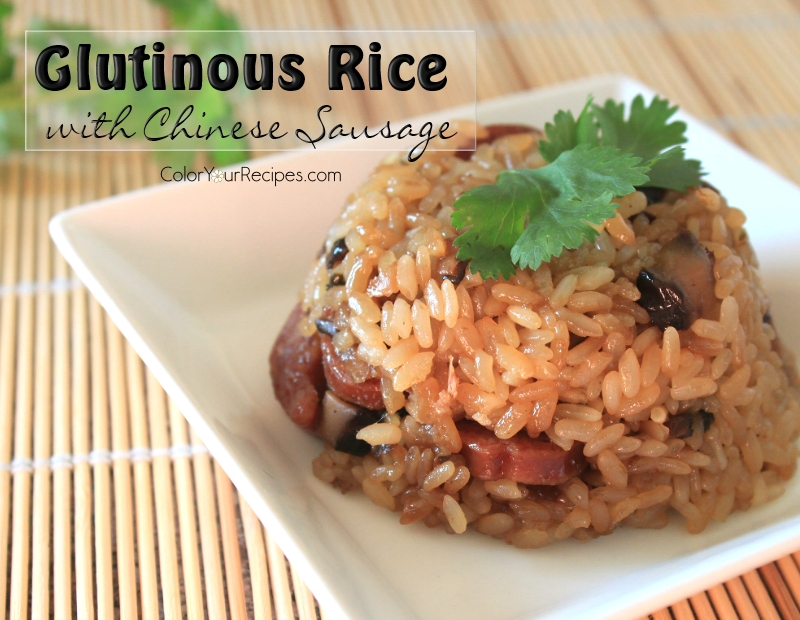 simple-glutinous-rice-with-chinese-sausage-recipe-3-color-your-recipes