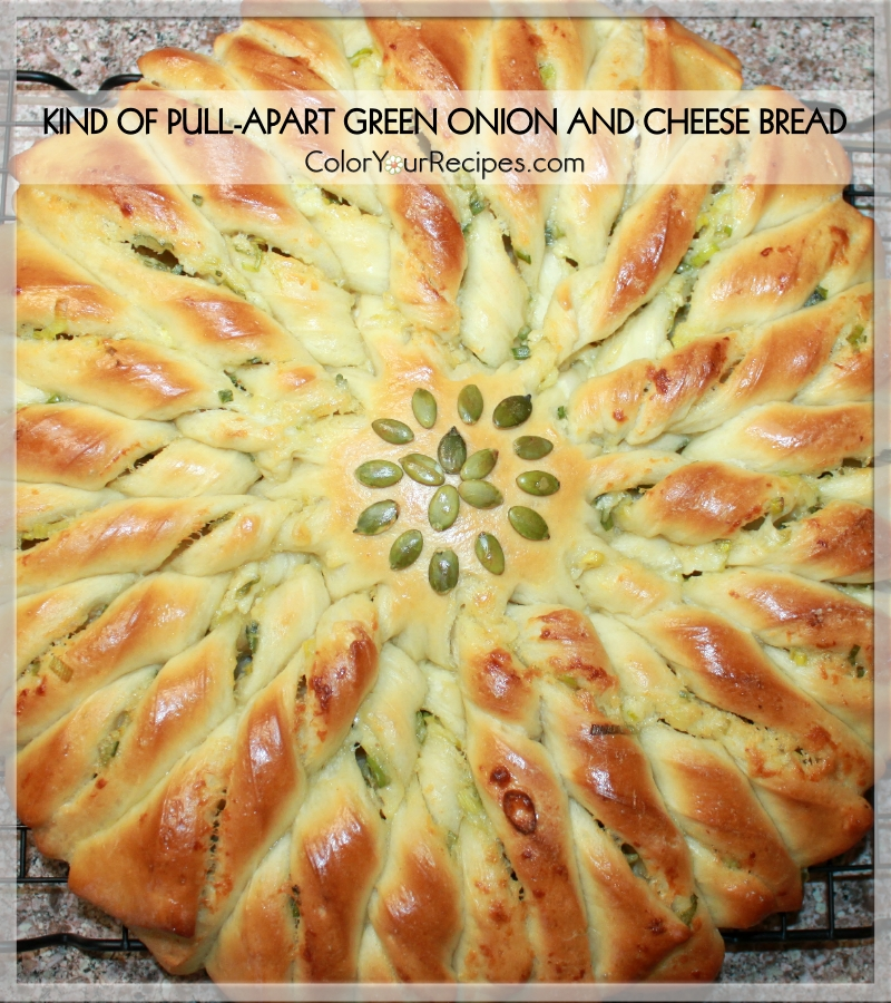 Kind Of Pull Apart Green Onion And Cheese Bread Color Your