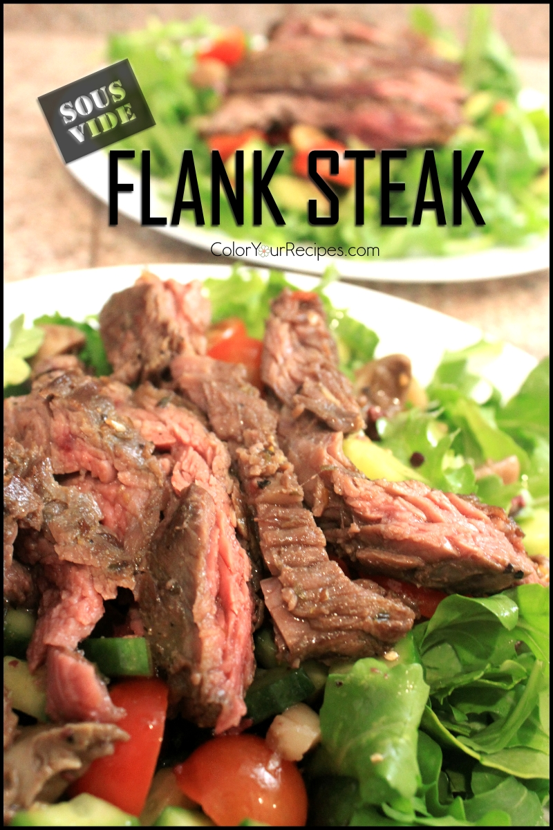 perfect flank steak recipe using sous vde color your recipes. Black Bedroom Furniture Sets. Home Design Ideas