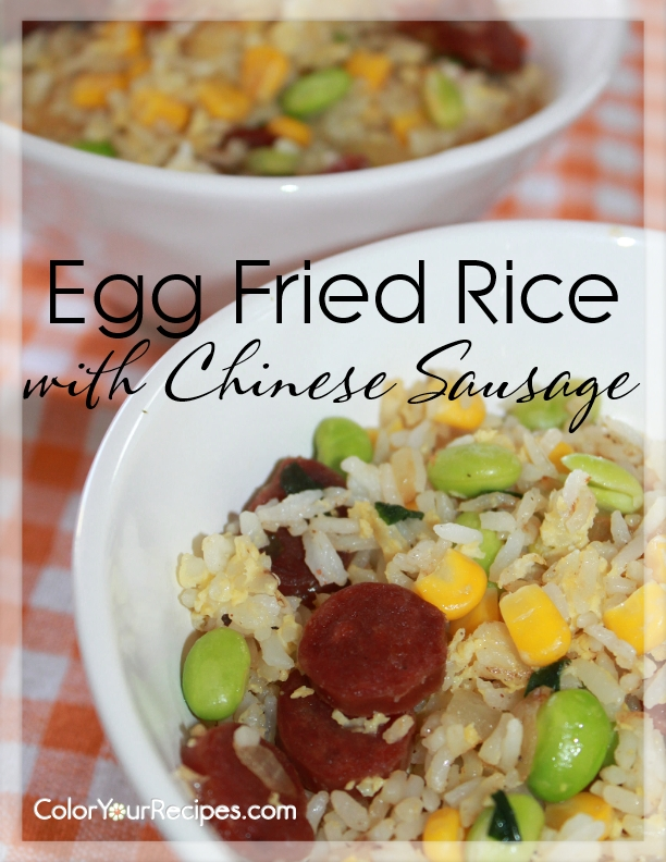 how to make fried rice with egg and sausage