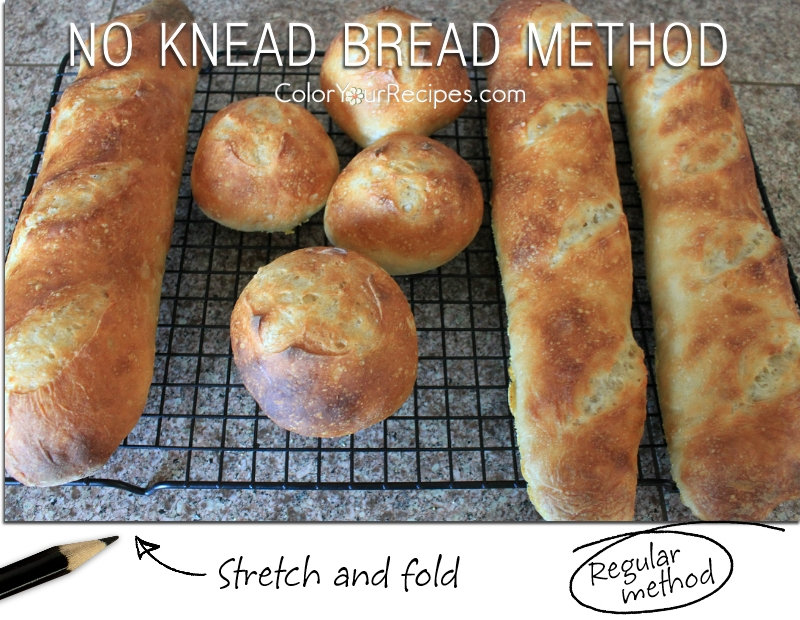 Stretch and Fold No-Knead Bread Recipe • Color Your Recipes