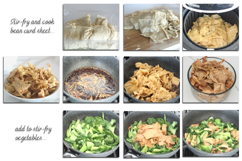 bean curd sheets how to cook